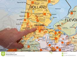 where is amsterdam on a map map with a pointing to amsterdam stock image image