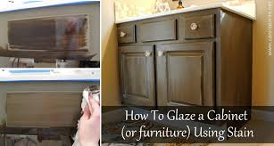 Wood Finishing Techniques Glazing by How To Glaze A Cabinet Using Stain Jenna Burger