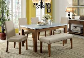 farmhouse table and chairs with bench walsh industrial style galvanized table top 6 piece dining table set