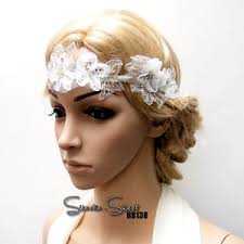lace fascinator 1920s gatsby white flower lace hair fascinator headpiece bridal