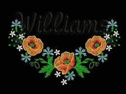 neckline wildflowers 5 machine embroidery design