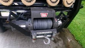 warn winch installed in cradle mount front or rear mount youtube