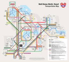 Disney World Epcot Map Disney World Transit Map X Post R Mapporn Waltdisneyworld
