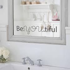 beyoutiful u0027 mirror sticker by nutmeg notonthehighstreet com
