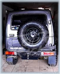 suzuki jimny katana bumper blk jimny katana 21121601 fourtrack accesorries 4 4