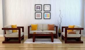 Wooden Sofa Furniture Skyler Wooden Sofa Sets Mahogany Finish