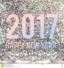 happy new year 2017 in material color at silver sparkling glitt