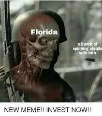 Florida Rain Meme - florida a bunch of spinning clouds with rain new meme invest now