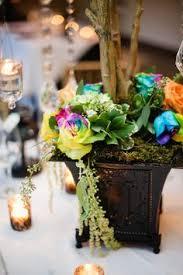 Rainbow Wedding Centerpieces by Rainbow Flower Wedding Table Centerpiece From Cori Cook In