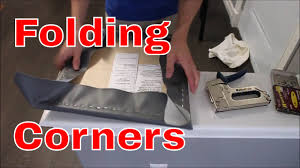 Recovering Dining Room Chair Cushions How To Recover A Chair Seat Easy To Fold Corners Youtube