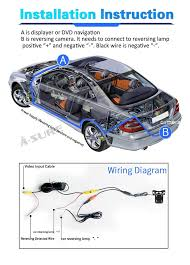universal type car ccd rear view reverse dynamic packing track