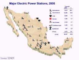 me a map of mexico map of electricity grid mexico national energy grids