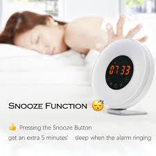 best light up alarm clock sunrise alarm clock joyful heart best wake up light with 7 colors