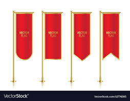 free printable vertical banner template red vertical banner flag templates royalty free vector image