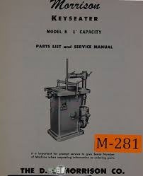 morrison keyseater model k 1