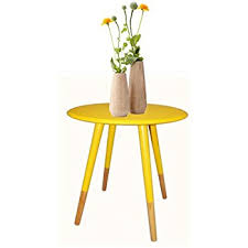 Yellow Side Table Tamia Home 1530655 Blue Side Table Wood 30 X 30 X 70 Cm Blue