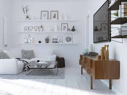 Shelf Floor L Decorations Mid Century Scandinavian Style Interior Decor With
