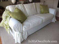 How To Make A Sofa Cover by Before And After Custom Sofa Slipcover In 12 Oz Natural Denim