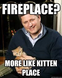 Fireplace Meme - fireplace more like kitten place scumbag harper quickmeme