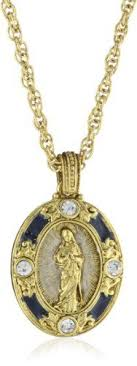 the vatican library collection the eternal bloom jeweled icon pendant with chain