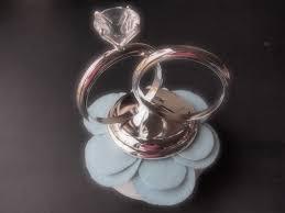 wedding ring cake topper white pastel blue by artisanfeltstudio on