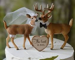 camo wedding cake toppers deer cake topper etsy