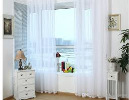 Patterned Sheer Curtains Ready Made White Sheer Curtains For Living Room Voile Tulle