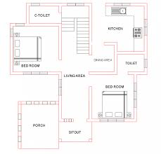 Indian House Floor Plans Free Free Indian House Plan 1500 Sq Ft 4 Bedroom 3 Attached Bath