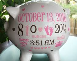customized piggy bank baby personalized piggy bank baby girl piggy bank baby girl