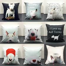 where to buy free hug sofa hand painting bull terrier dog pillow cushion cover dogs free hug