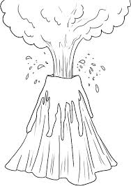 printable volcano coloring the art gallery volcano coloring pages