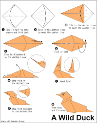 how to make duck origami duck fly easy origami instructions for