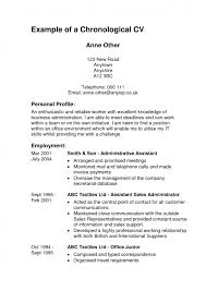 Chronological Order Resume Template Examples Of The Chronological Resume Chronological Resume Format
