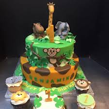 Tropical Theme Birthday Cake - safari birthday 1 jpg
