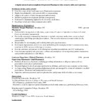 Pharmacy Resume Examples by Motivated Pharmacist Resume Sample Featuring Areas Of Expertise