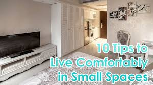 10 tips to comfortable small space living youtube