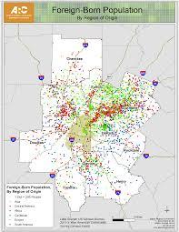 Metro Atlanta Map Foreign Born Population A Kick Off To Arc U0027s Global Advisory Panel