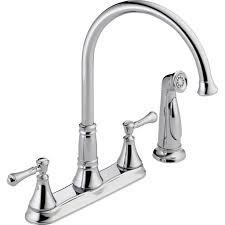 Faucet Caps Faucet Delta Cassidy Handle Standard Kitchen With Side Sprayer Cap