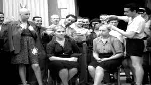barber shaves heads of french female collaborators in menton