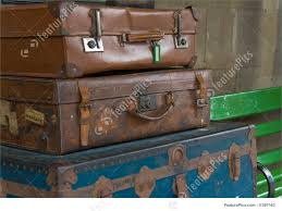 Suitcases Old Travelling Suitcases Stock Picture I1387163 At Featurepics