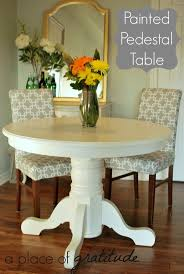 Pedestal Kitchen Table by The 25 Best Painted Pedestal Tables Ideas On Pinterest