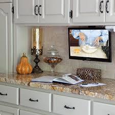 kitchen televisions under cabinet tv for kitchen cabinet trekkerboy