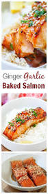 Bake Salmon In Toaster Oven Ginger Garlic Baked Salmon Easy Delicious Recipes