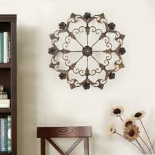 home decorators collection amaryllis 36 in square metal wall round flower metal wall decor