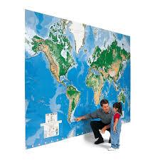 World Map Mural The World U0027s Largest Write On Map Mural Hammacher Schlemmer