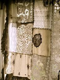Lace For Curtains Antique Lace And Sheer Remnants Quilted Beautiful In A Window