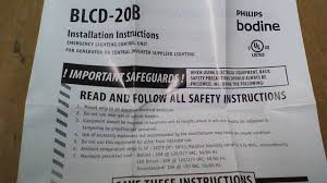 unit equipment emergency lighting blcd 20b philips bodine emergency lighting control unit ebay