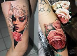 female leg tattoos tattoo flower rose leg tattoo tattoo for women people