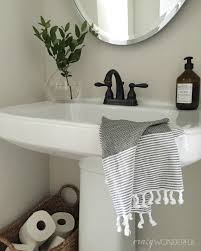 Powder Room Towels Powder Room Accessories Decor Traditional Powder Room Chicago