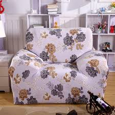 online shop printed sofa cover grey flower couch cover elastic